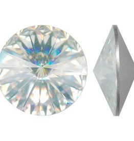 1 PC 16mm Swarovski Rivoli : Crystal Foil Back