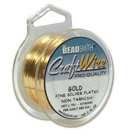 4 YD 18GA Non Tarnish Craft Wire : Gold