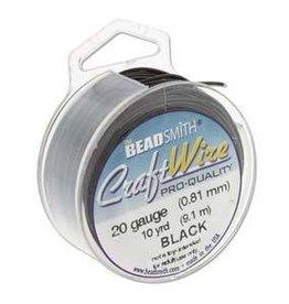 6 YD 20GA Craft Wire : Black