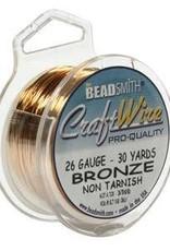 30 YD 26GA Craft Wire : Bronze
