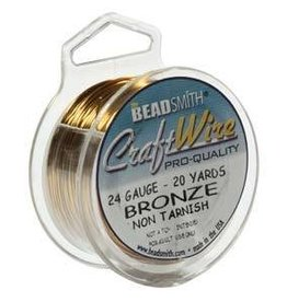 20 YD 24GA Craft Wire : Bronze