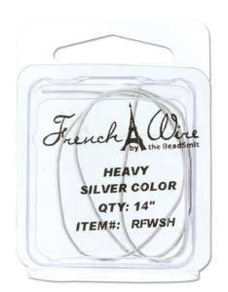 """14"""" Silver French Wire : Heavy"""