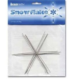 "7 PC 4 1/2"" Wire Snowflake"