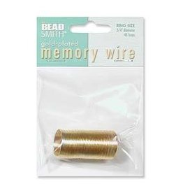 48 Loops Ring Memory Wire : Gold Plate
