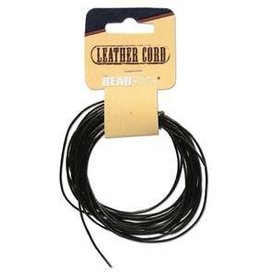 5 YD 1mm Leather Cord : Black