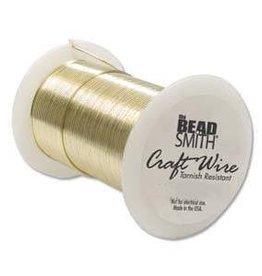 40 YD 28GA Non Tarnish Craft Wire : Gold