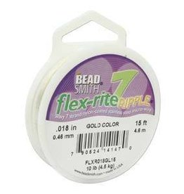 "15 FT .018"" Flex-Rite Ripple 7 Strand : Gold"