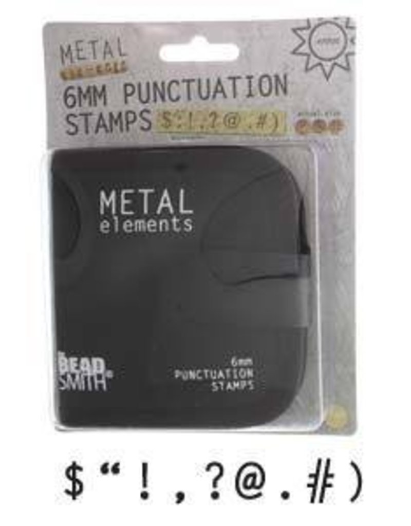 9 PC 6mm Punctuation Stamps with Case