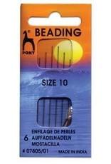 6 PC #10 Pony Beading Needle