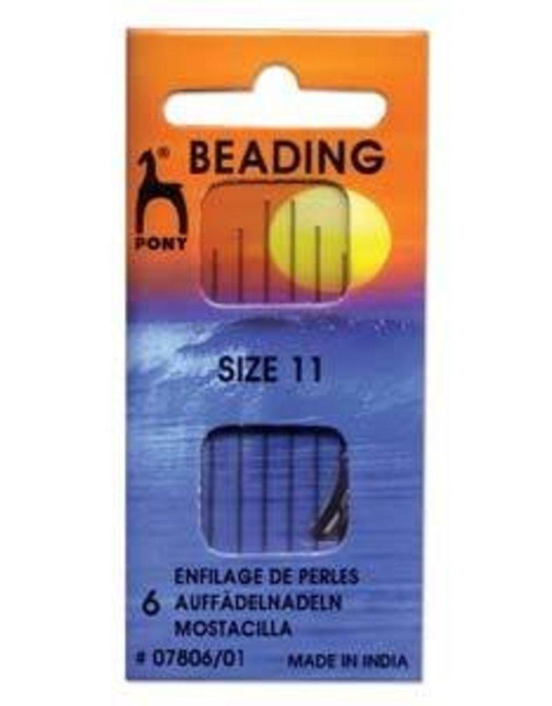 6 PC #11 Pony Beading Needles