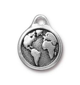 1 PC ASP 20x16mm Earth Charm