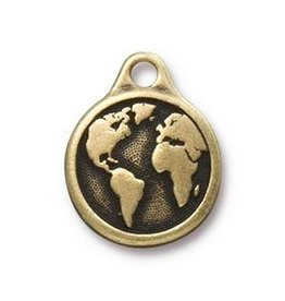 1 PC AGP 20x16mm Earth Charm