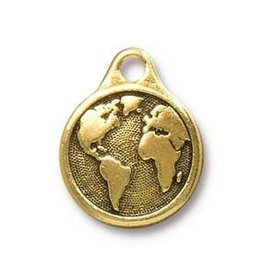 1 PC GP 20x16mm Earth Charm