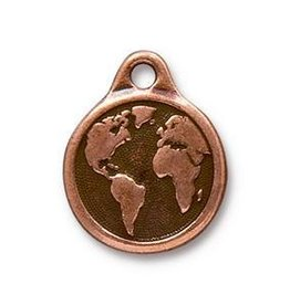 1 PC ACP 20x16mm Earth Charm