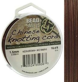 5 Meter 1.5mm Knotting Cord : Neon Brown