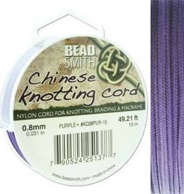 15 Meter .8mm Knotting Cord : Purple