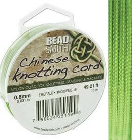 15 Meter .8mm Knotting Cord : Emerald