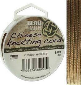 3 Meter 2mm Knotting Cord : Light Brown