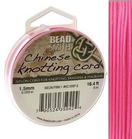 5 Meter 1.5mm Knotting Cord : Neon Pink