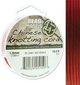 5 Meter 1.5mm Knotting Cord : Dark Siam