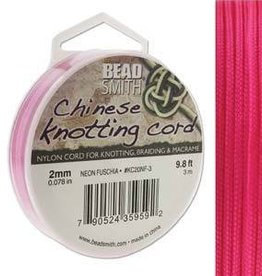 3 Meter 2mm Knotting Cord : Neon Fuchsia