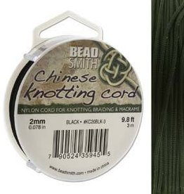 3 Meter 2mm Knotting Cord : Black