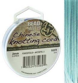 3 Meter 2mm Knotting Cord : Powder Blue