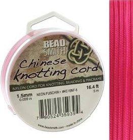 5 Meter 1.5mm Knotting Cord : Neon Fuchsia