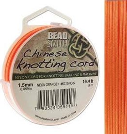 5 Meter 1.5mm Knotting Cord : Neon Orange