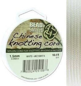 5 Meter 1.5mm Knotting Cord : White