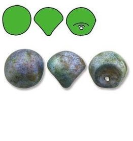 50 PC 6x5mm Mushroom : White Matte Travertine Blue