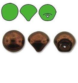 50 PC 6x5mm Mushroom : Jet Bronze