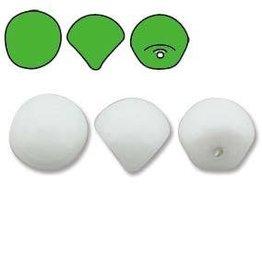 50 PC 6x5mm Mushroom : White