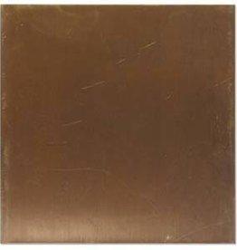 """24 Gauge 3""""x3"""" Vintaj Natural Brass Stamping Blank"""