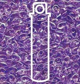 10 GM 4x7mm Long Magatama : Lilac Lined Crystal (APX 80 PCS)