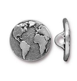 1 PC ASP 17mm Earth Button Loop ID 2.25mm