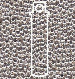 10 GM 8/0 Metal Seed Bead : Silver Plate