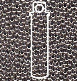 10 GM 11/0 Metal Seed Bead : Nickel Plated Brass