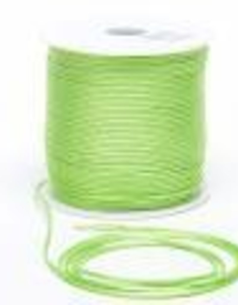 6 YD 2mm Size 1 Rattail : Lime Green