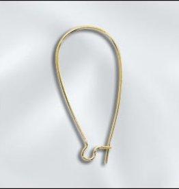 8 PC GP 36x18mm Kidney Ear Wire