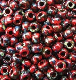 10 GM 6/0 Round : Red Garnet Matte Picasso
