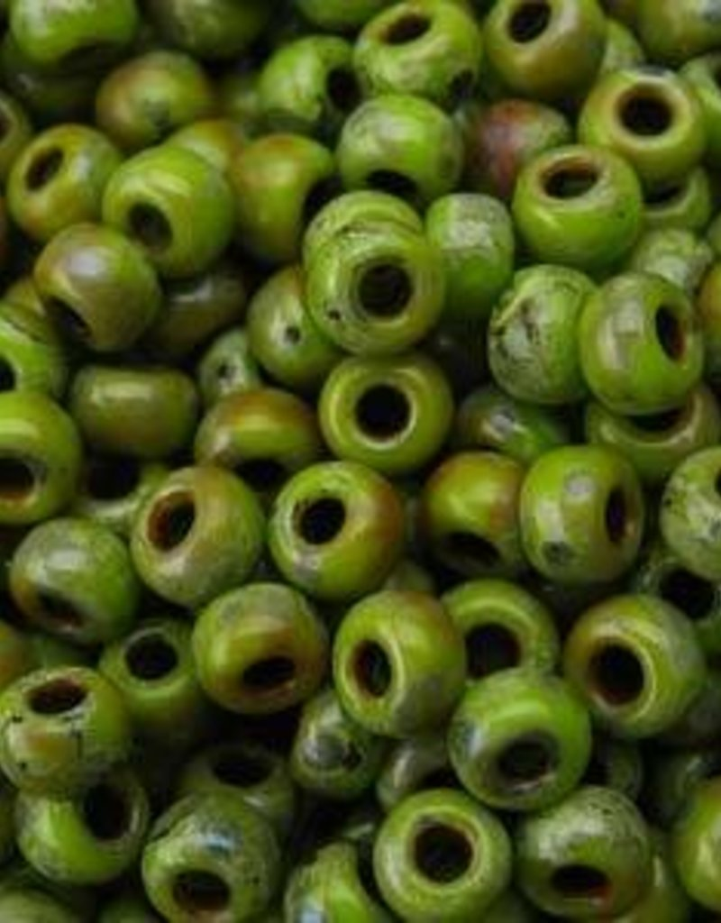 10 GM 8/0 Round : Chartreuse Matte Picasso