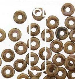10 GM 3.8x1mm O Bead : Chalk White Lilac Gold (APX 350 PCS)