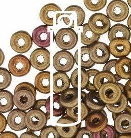 10 GM 3.8x1mm O Bead : Metallic Mix (APX 350 PCS)