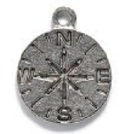 1 PC ASP 11x13mm Compass Charm