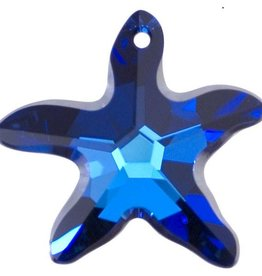 1 PC 17x16mm Swarovski Starfish : Bermuda Blue