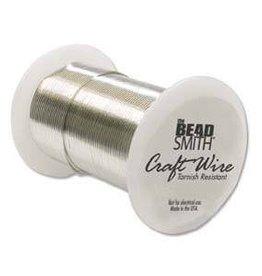 34 YD 26GA Non Tarnish Craft Wire : Silver