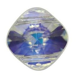 1 PC 14mm Swarovski Double Hole Square : Crystal AB