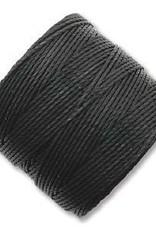 77 YD S-Lon Bead Cord : Medium Black