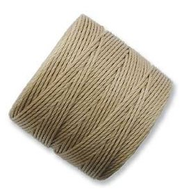 77 YD S-Lon Bead Cord : Light Brown